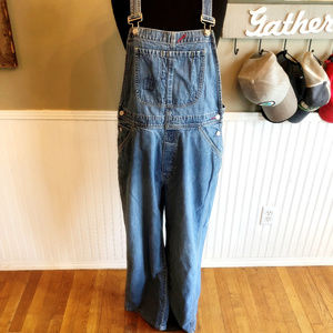 Gap Factory Relaxed Fit Bib Denim Overall Jeans LG
